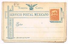 CPA LETTRE ENTIER POSTAL MEXIQUE MEXICO 4 CENT