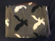 Ae American Eagle Outfitters Grey, Black White, Fleece Throw Blanket Small