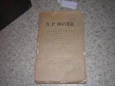 1896.le père Boyer / Massé.saint-edme Pontigny.oblats du sacré-coeur