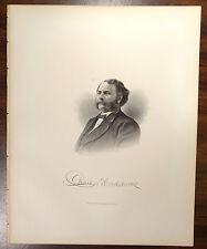 CHARLES HADDOCK M.D. 1822-1889 BEVERLY MA HANOVER NH Engraving 1879 Print
