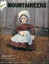 """Vintage Mountaineers """"GRANDMA"""" Country 24"""" Doll Embroidery Craft Kit 1751-W *NEW"""