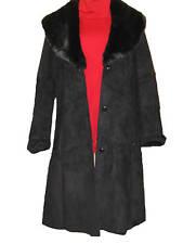 $189 Coldwater Creek Women's Winter Black faux fur coat washable jacket size 16