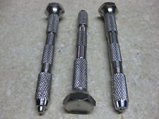 4 HEAD PIN VISE 3pc SET LOOK CLOSELY MILLED FROM SOLID BAR STOCK NOT ROLL STEEL
