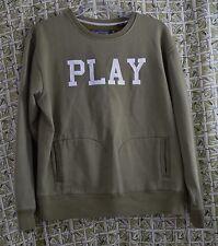 Play Cloths Sweatshirt Men's XL Green Kangaroo Front Pockets Spell Out Fleece