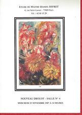Catalogue de vente tableau Atelier peinture Kiyoshi Hasegawa - FRITZ MULLER 1987