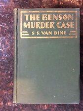 The Benson Murder Case  S.S. Van Dine 1926 Charles Scribner's Sons First Edition