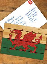 Brainbox Candy 'Welsh Dragon' Flag Postcard Funny Comedy Humour Novelty Joke