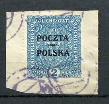Polen 1919   Fischer Nr 46  krakauer Ausgabe Briefstück.Geprüft Ryblewski