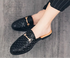 Stylist Loafers Mules sz Mens Casual Backless Round Toe Slippers 2020 Chic