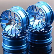 Aluminum 7Y Spoke Wheels/Rims 1055 RC 1/10 BLUE On-Road Drift Sakura HSP Tamiya