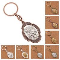 St. Michael Archangel Catholic Patron Saint Medal Metal Keyring Keychain Pendant