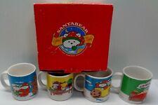 Rare 1995 DAYTON CHRISTMAS SANTA BEAR CERAMIC MUGS  IN BOX