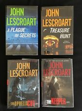 John Lescroart Lot Of 4 Signed Hardcovers Plague, Treasure, Ophelia, Keeper