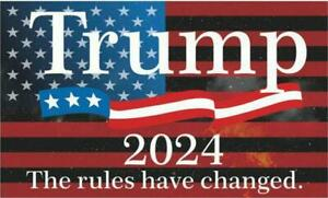 Donald Trump 2024 Flag 3' x 5' Banner The Rules Have Changed President USA A-6