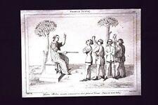 Gaston Phebus,huer et corner, France Incisione del 1850 L'Univers pittoresque