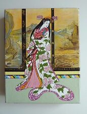 "[Ukiyoe Tarot] Queen of Swords 9x6x1"" Acrylic Painting"