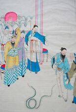 Pharaoh and the Serpent, Story of Moses- Chinese Art, Watercolor on Paper c.1940