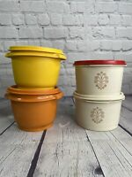 Vintage Tupperware Container Lot Of 4