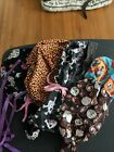halloween PPE 5 scrub / chef hats and 1 mask, skulls, candy, day of the dead