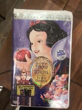Snow White and the Seven Dwarfs (VHS, 2001, Clam Shell Platinum Edition)