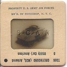 WWII US 35mm Recognition Slide Negative- Panzer- Tank- M20 Greyhound Ut Car- #5