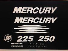 Mercury Verado 225 250 275 300 white  Marine Vinyl Decal Kit, send message on hp