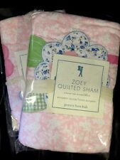 Pottery Barn Kids Zoe Quilted Sham Pink Floral Standard Euro New