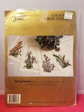 """Needle Point KIt Something Special Spring Flowers place mats set of four 8""""X13"""""""