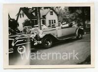 Vintage B/W photo car automobile 1926 Packard Convertible Coupe