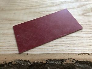 Red Composite Liner 1mm x3ins x6ins for knifemaking scales, wood & bush crafts