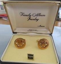 New Vintage Anson Karatclad Heavy Gold Electroplate Cuff Links, Original Box