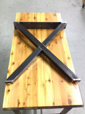 Metal Table Legs - X Style - Industrial Rustic Finish