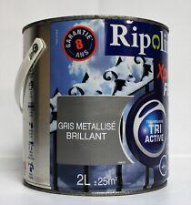 """Peinture Fer RIPOLIN """" Gris métallisé """" 2 L"""