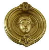 Face Shape Vintage Antique Finish Handmade Brass Door Knocker Pull Home Decor A6