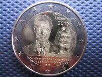 *LUSSEMBURGO 2015  2 EURO 15 ANNI AL TRONO GRANDUCA GIOVANNI leggi l'inserzione