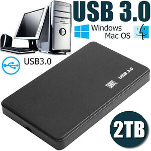 1TB 2TB 2.5in USB3.0 External Hard Disk Drive Box SATA III Memory Storage Device