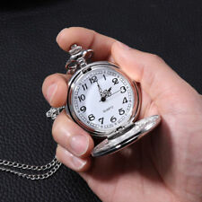 Mechanical Vintage Pocket Watch Unisex Quartz Watch With Necklace Chain