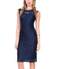 Stanzino Cap Sleeve Lace Overlay Cocktail Dress Navy Large