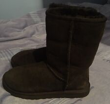 Ex Cond Genuine Black UGG Australia Sheepskin Flat Boots Size UK 4.5 EU 37