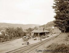Ulster & Delaware Railroad Station, Fleischmann's, Catskill Mtns. NY-Photo Print