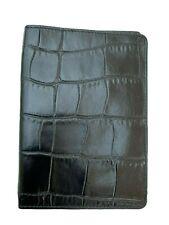 Exclusive ALEXANDER McQUEEN PASSPORT COVER Samsonite BLACK LABEL Leather Black