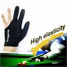 Black 3 Fingers Billiard Glove Pool Cue Stick Snooker Left or Right Hand*1Piece