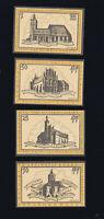 4x  Notgeld-Scheine  FRANKFURT (ODE) 10,25,50 Pf + 1 M Ansichten Kirchen top
