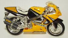 Maisto Die Cast Suzuki Motorcycle in Yellow with Black trim