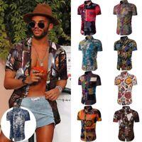 Summer Shirt Floral Fashion Shirts Tee Mens Short Sleeve Men's Dress Casual Tops
