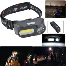 Super Bright Waterproof Head Torch Headlight LED USB Rechargeable Headlamp