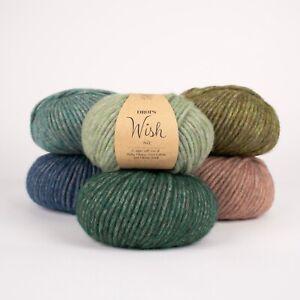 DROPS WISH Baby alpaca + merino SUPER SOFT Light Chunky Blow Knitting yarn 50g