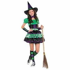 Girls Teen Wicked Cool Witch Halloween Costume Fancy Dress Outfit 10-12 Years