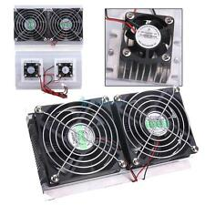 HOT~ Thermoelectric Peltier Refrigeration Cooling System Kit Cooler 2 x Fan DIY