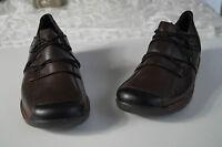 REMONTE Lofters Damen Schuhe Sneaker Slipper Leder braun mit Einlagen Gr.38 NEU